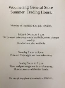 Store Summer Trading Hours